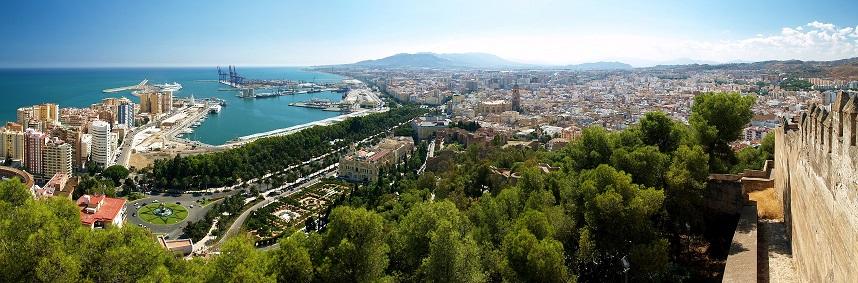 Malaga desde el castillo de Gibralfaro