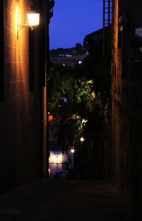 Cáceres de noche