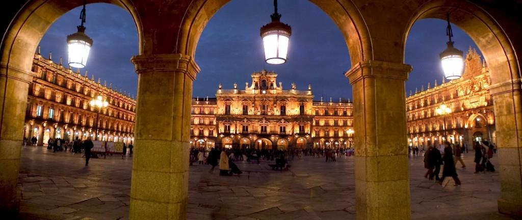 Plaza Mayor de Salamanca de noche